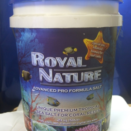 Sól morska naturalna Royal Nature Natural Sea Salt 23 kg (wiadro) (Dobra Cena Bez Rabatu)