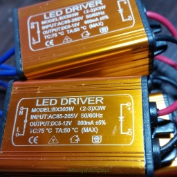 Sterownik driver LED Cree 2-3 diody x 3W
